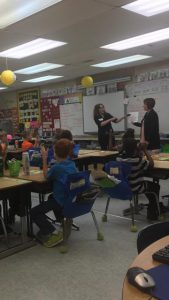 Mandy and Moore teach in classroom on 4.6.16